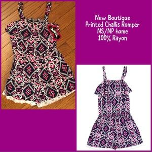 Other - Boutique Printed Challis Romper